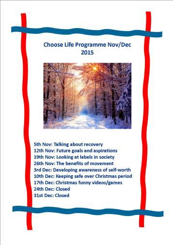 November to December programme 2