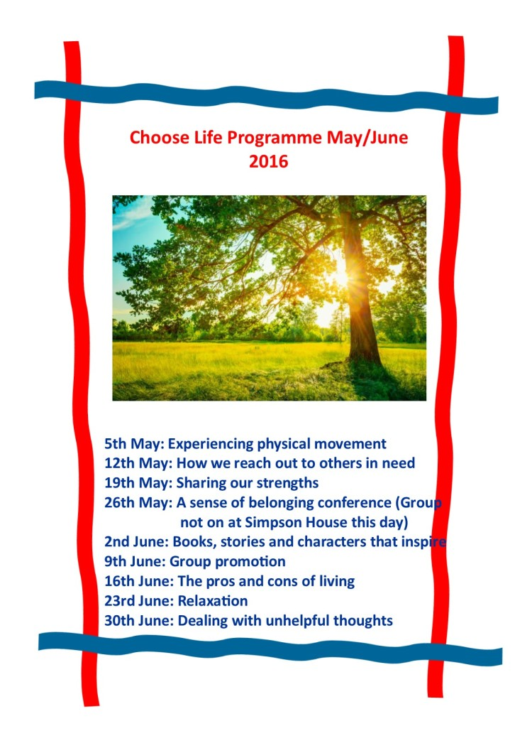 May and June programme