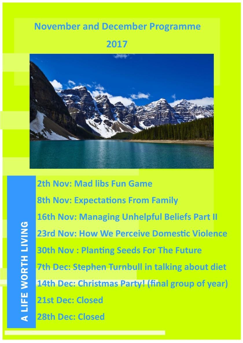 Nov and Dec Programme