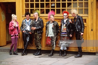 Ireland, Dublin, street punks